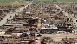 Greenburg KS after tornado of May, 2007 (FEMA)