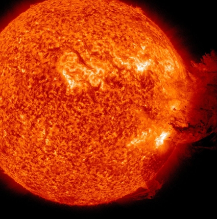Solar flare by Nasa Earth Observatory